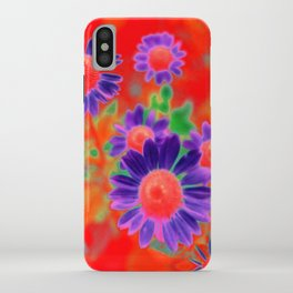 Summer Floral Red iPhone Case
