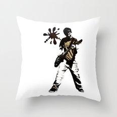 guitar boy - white  Throw Pillow