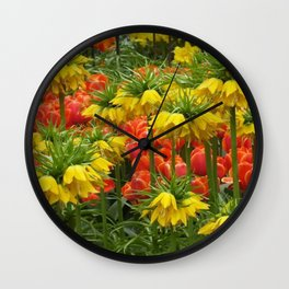 YELLOW CROWN IMPERIAL GREENHOUSE GARDEN Wall Clock
