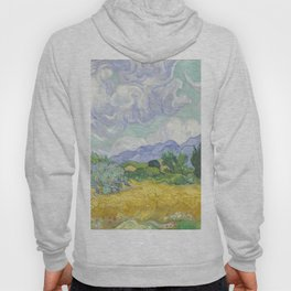 A Wheatfield with Cypresses by Vincent van Gogh Hoody