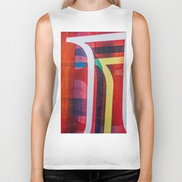 abstract colors 2 Biker Tank