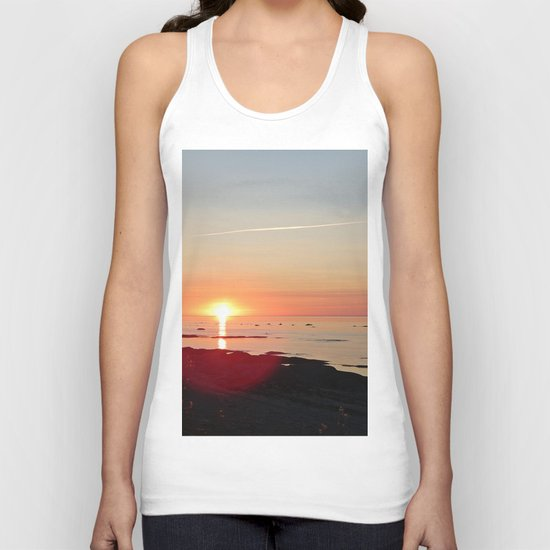 Kayak and the Sunset Unisex Tank Top
