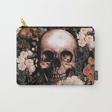 SKULL AND FLOWERS II Carry-All Pouch