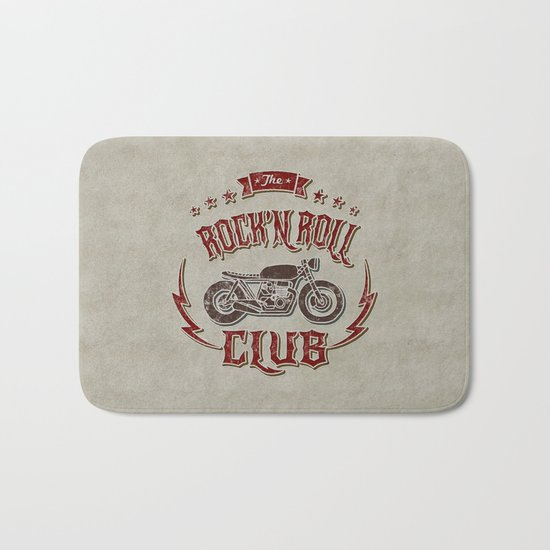 Rock 'n Roll Motorcycle Club Bath Mat