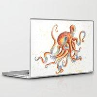 octopus Laptop & iPad Skins featuring Octopus by Patrizia Ambrosini