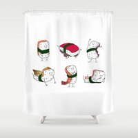 nori Shower Curtains featuring Foods Of The World: Japan (All) by Studio14
