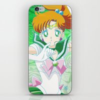 sailor jupiter iPhone & iPod Skins featuring Sailor Jupiter  by Neo Crystal Tokyo
