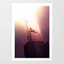 To the Sky! Art Print