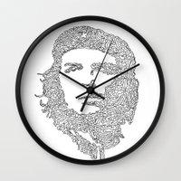 che Wall Clocks featuring Che by Rui Faria