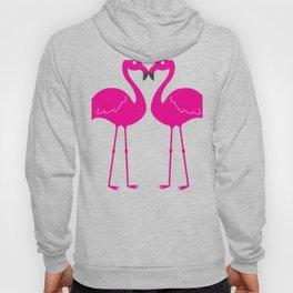 Pink Flamingo Heart Tropical Bird Design Hoody