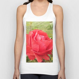 a red red rose Unisex Tank Top