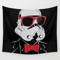 trooper Wall Tapestries featuring Hipster Trooper by BomDesignz