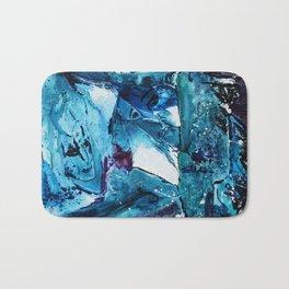 Faces in blue Bath Mat