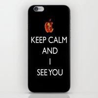 keep calm iPhone & iPod Skins featuring KEEP CALM  by Caio Trindade