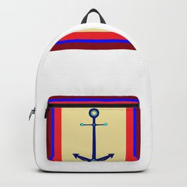 A Nautical Anchor with Boarder Backpack