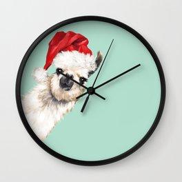 Christmas Sneaky Llama Wall Clock