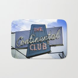 The Continental Club Sign Bath Mat
