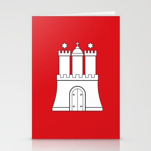 Flag of hamburg Stationery Cards
