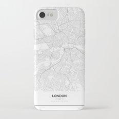 London, England Minimalist Map iPhone 7 Slim Case