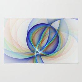 Colorful Design, Modern Fractal Art Rug