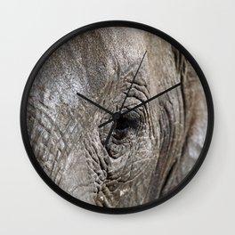 Eye of the elephant, Africa wildlife Wall Clock