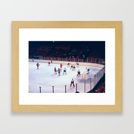 Vintage Ice Hockey Match Framed Art Print