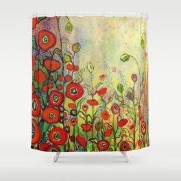 Memories of Grandmother's Garden Shower Curtain