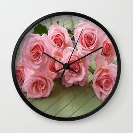 TAKE TIME TO SMELL THE ROSES Wall Clock