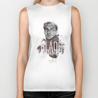 blade runner Biker Tanks featuring Blade Runner by Duke Dastardly