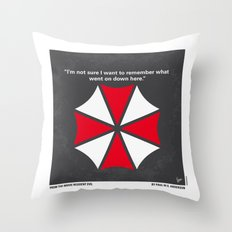 No119 My RESIDENT EVIL minimal movie poster Throw Pillow
