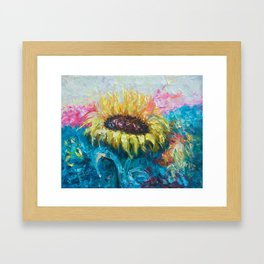 Sunny Flower by Lena Owens Framed Art Print