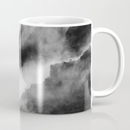 Foggy Mountains Black and White Coffee Mug