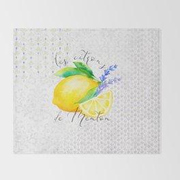 Les Citrons de Menton—Lemons from Menton, Côte d'Azur Throw Blanket