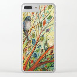 Waiting in a Rainbow Tree Clear iPhone Case