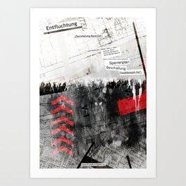 """""""Entfluchtung"""" Art Print"""