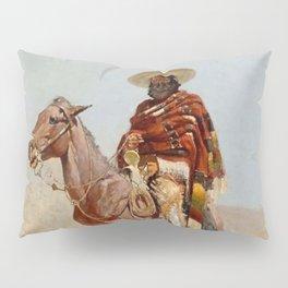 """""""Mexican Vaquero Horseman"""" by Frederick Remington Pillow Sham"""