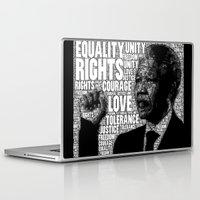 mandela Laptop & iPad Skins featuring Mandela tribute by WAMTEES