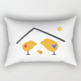 Sunny Family Sweet Home and Girl Rectangular Pillow
