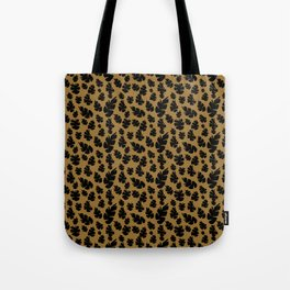Orange Pinecone Floral Tote Bag