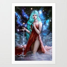 Space Goddess Art Print