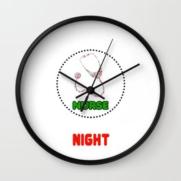 Sleep All Day Nurse At Night RN Wall Clock