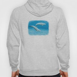 """""""Sandscape"""" by Amber Marine ~ Dolphin Art ~ Acrylic Painting, (Copyright 2014) Hoody"""