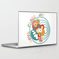 70s Laptop & iPad Skins featuring 70s Circle  by Louise Machado