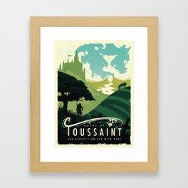 Visit Toussaint Framed Art Print
