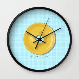 Donut Be An Asshole Wall Clock