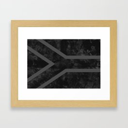Black South Africa Flag Framed Art Print