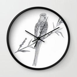 Rosella Graphite Illustration Wall Clock