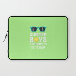 Summer Boys in OCTOBER T-Shirt for all Ages D86fq Laptop Sleeve