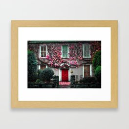 Ireland Christmas Photography Irish Home Love Flower Ivy Old Framed Art Print