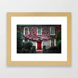 Ireland Christmas Photography Irish Home Love Flower Ivy Old Framed Art Print